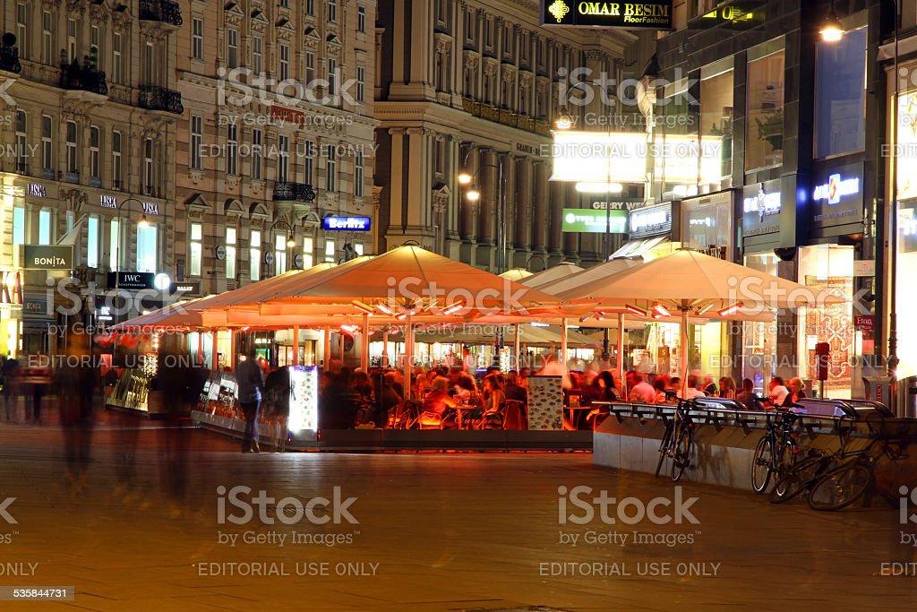 Night Dining stock photo