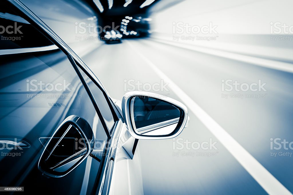 night drive blussed in motion stock photo