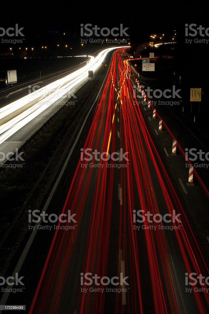 Night Drive - Going home royalty-free stock photo