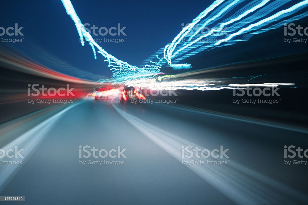 Night Drive royalty-free stock photo