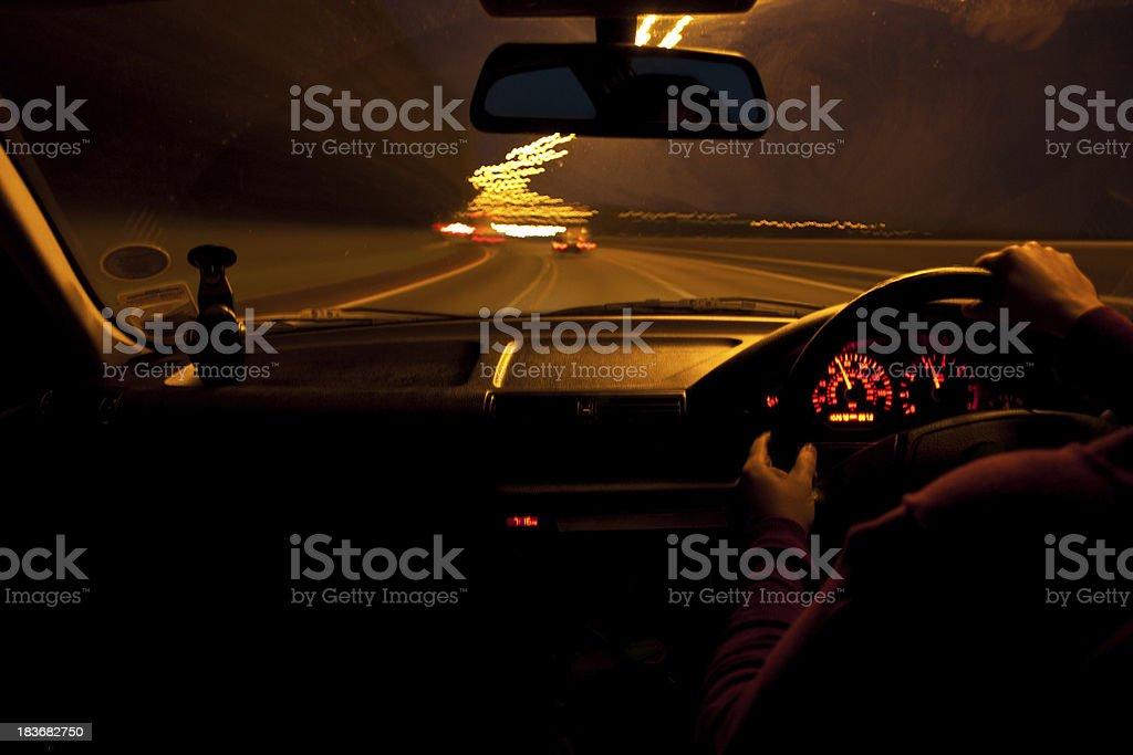 Night Drive stock photo