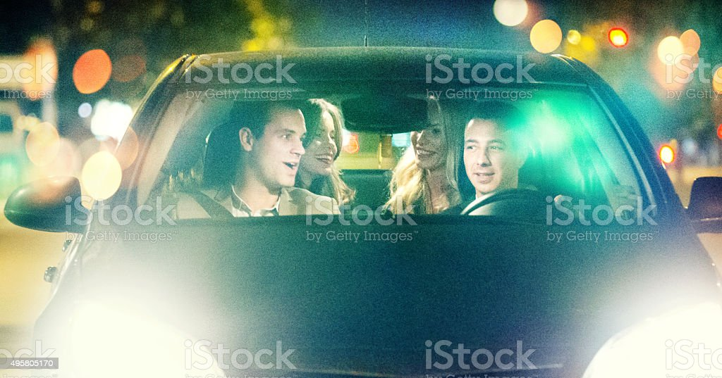 Night drive, stock photo
