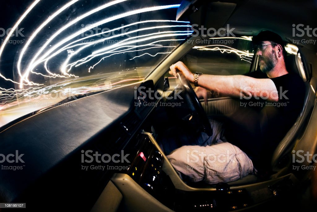 Night driver royalty-free stock photo