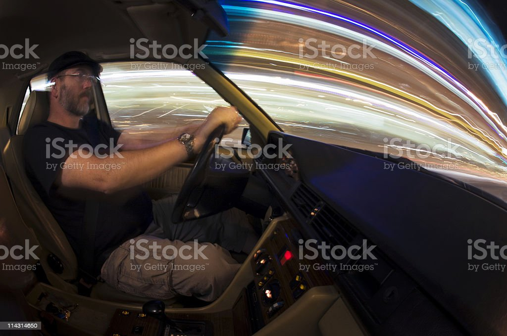 Night driver stock photo
