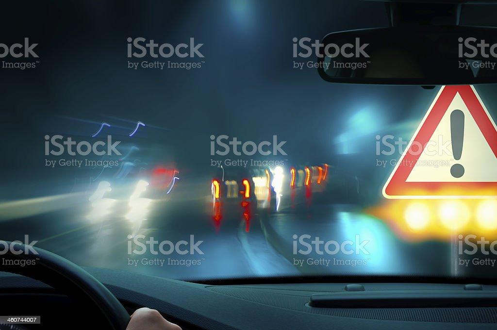 night driving stock photo