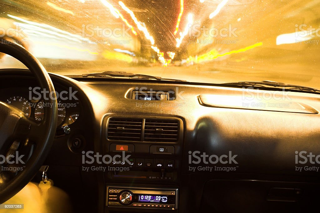 Night Driving royalty-free stock photo