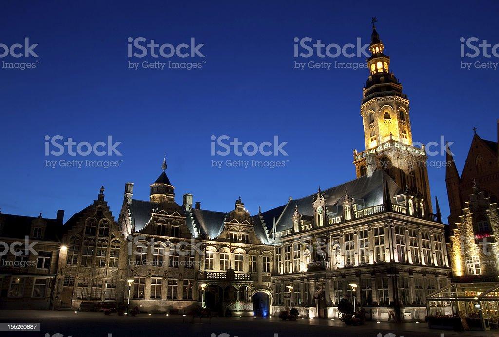 Night European city royalty-free stock photo