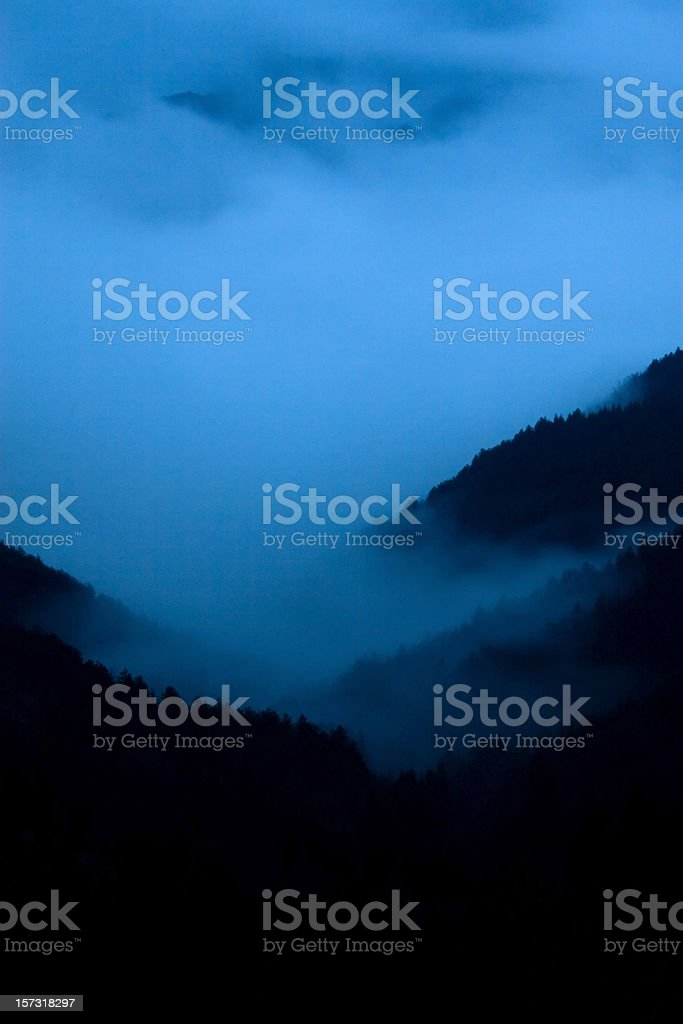 Night fog royalty-free stock photo