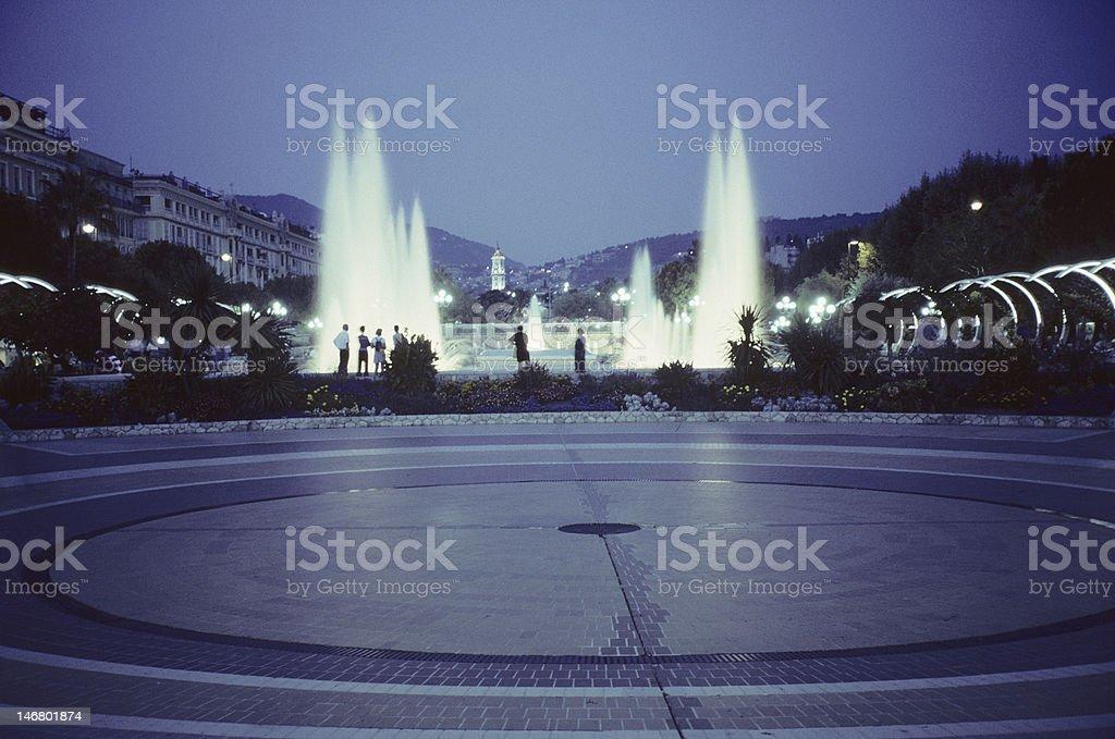 Night fountain royalty-free stock photo