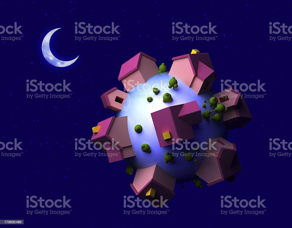 night globe royalty-free stock photo