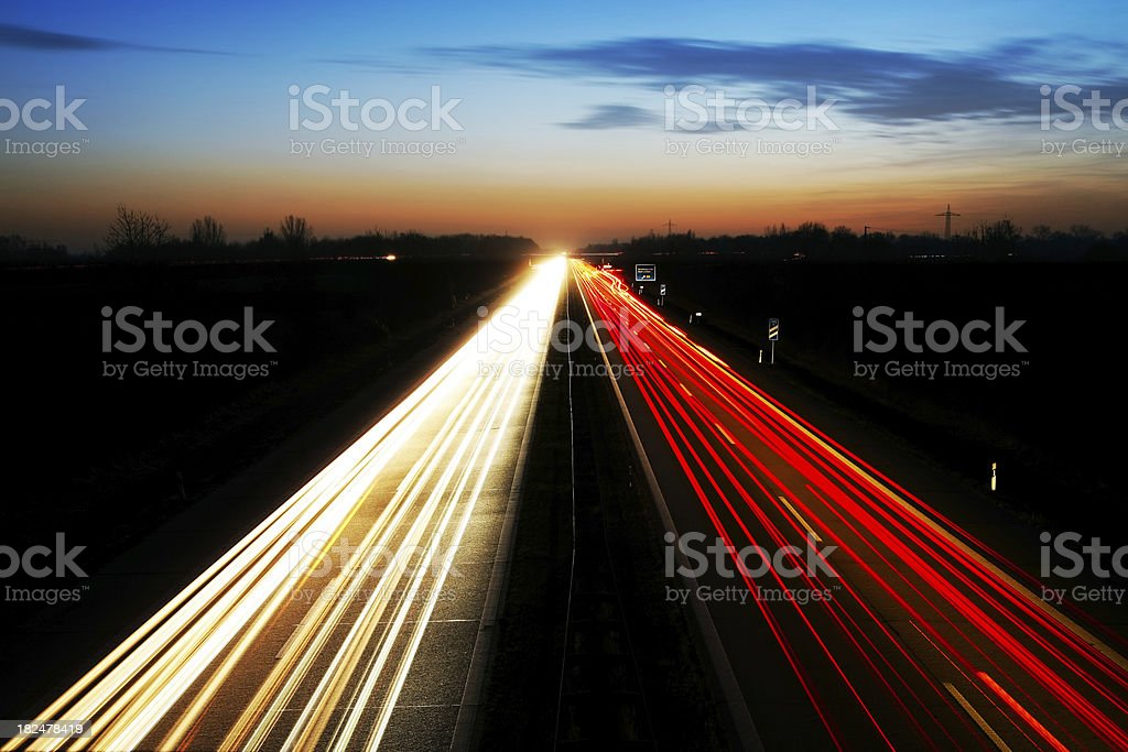 night highway royalty-free stock photo