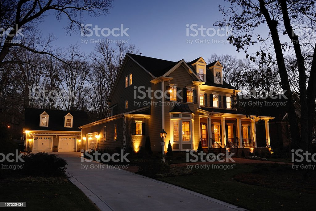 Night Home stock photo
