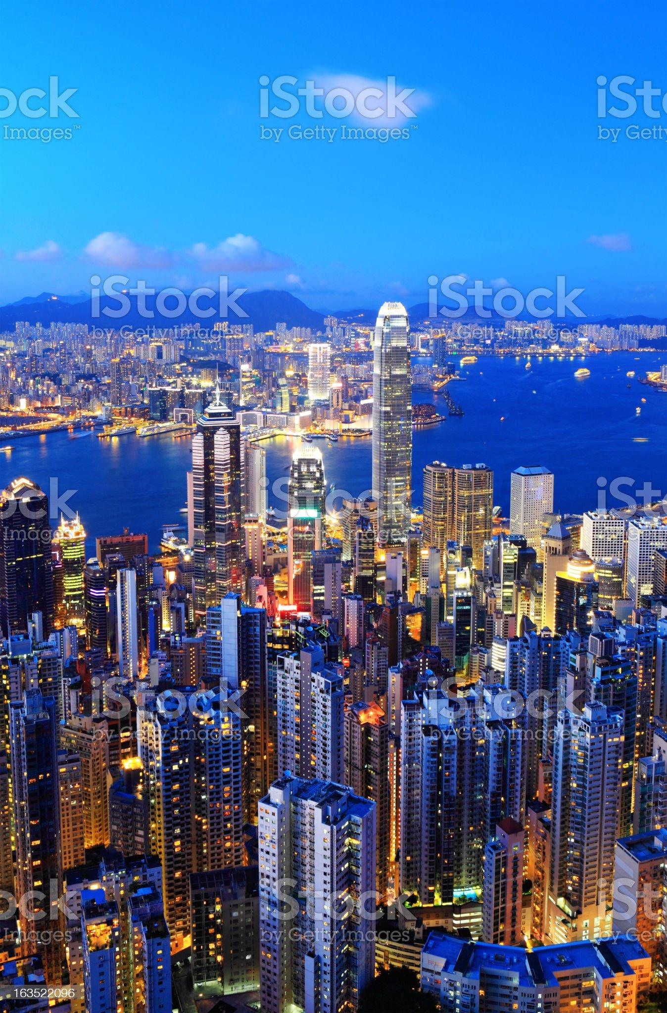 Night Hong Kong royalty-free stock photo