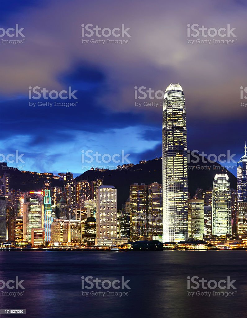 Night Hong Kong royalty-free stock photo
