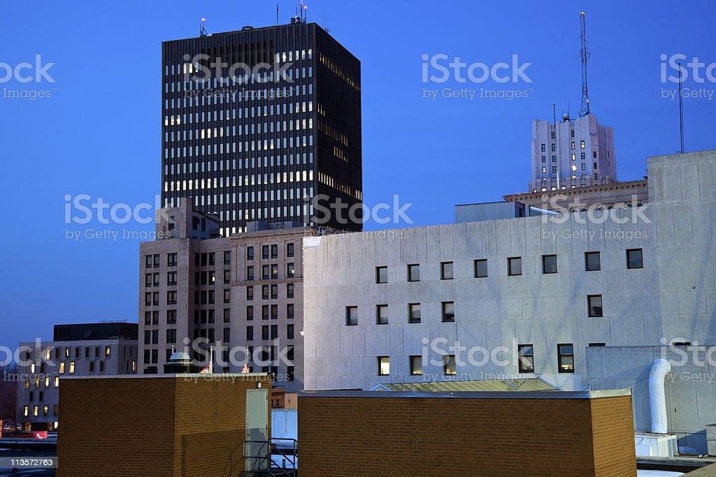 Night in Akron stock photo