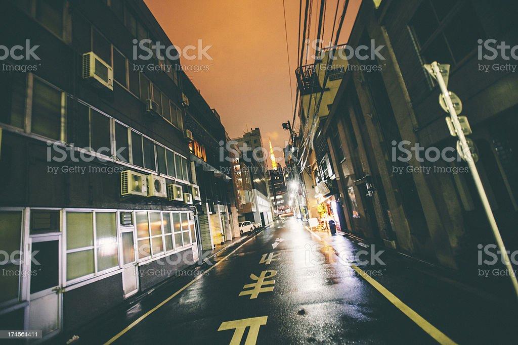Night in big city. stock photo