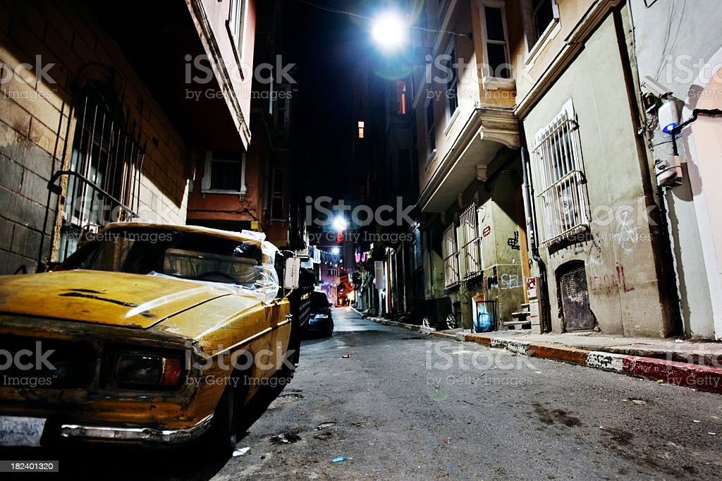 night in big city royalty-free stock photo