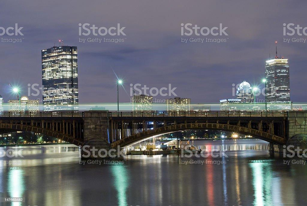 Night in Boston royalty-free stock photo