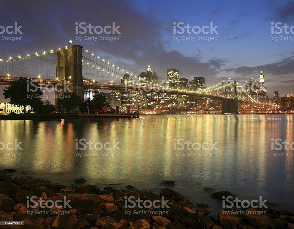 night in Brooklyn royalty-free stock photo