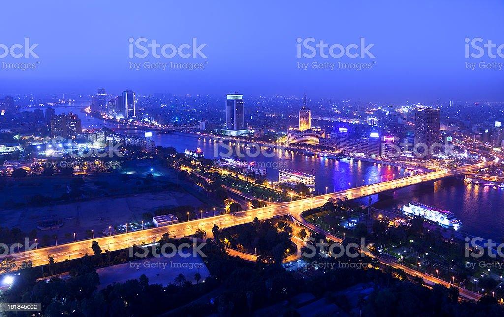 night in cairo stock photo