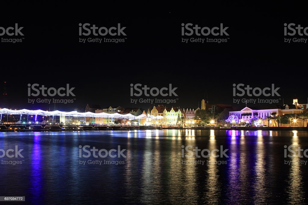 Night in Curacao stock photo