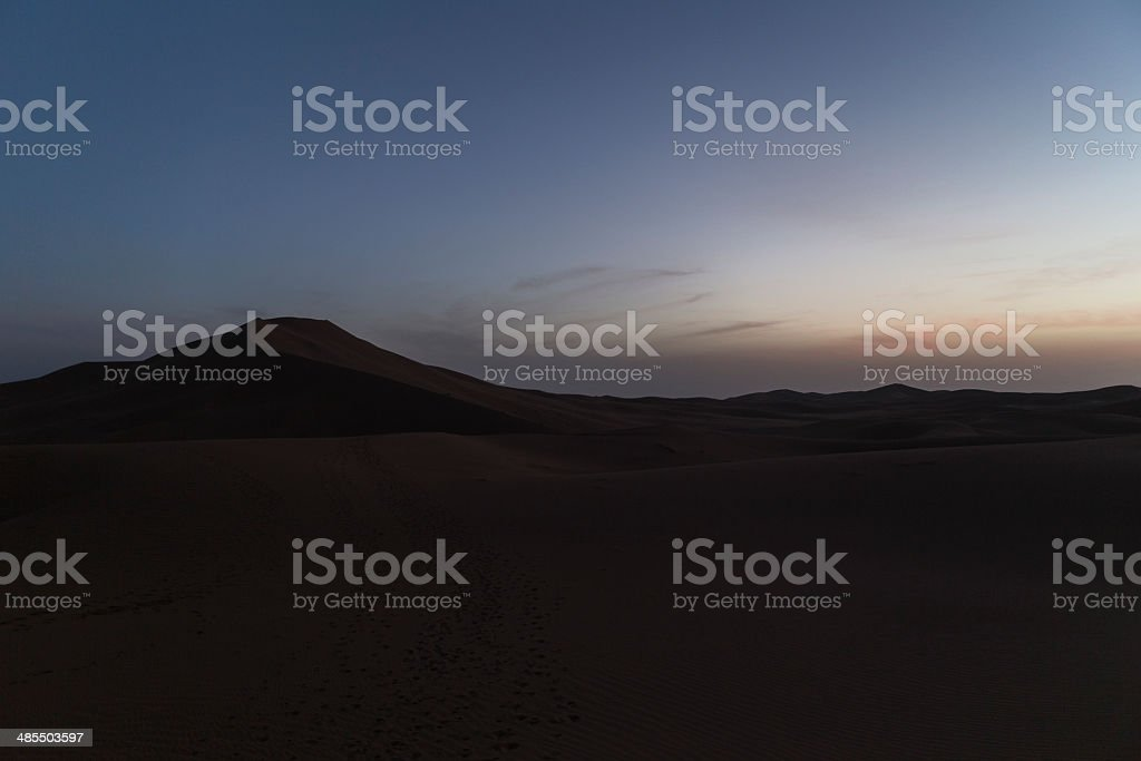 night in desert royalty-free stock photo