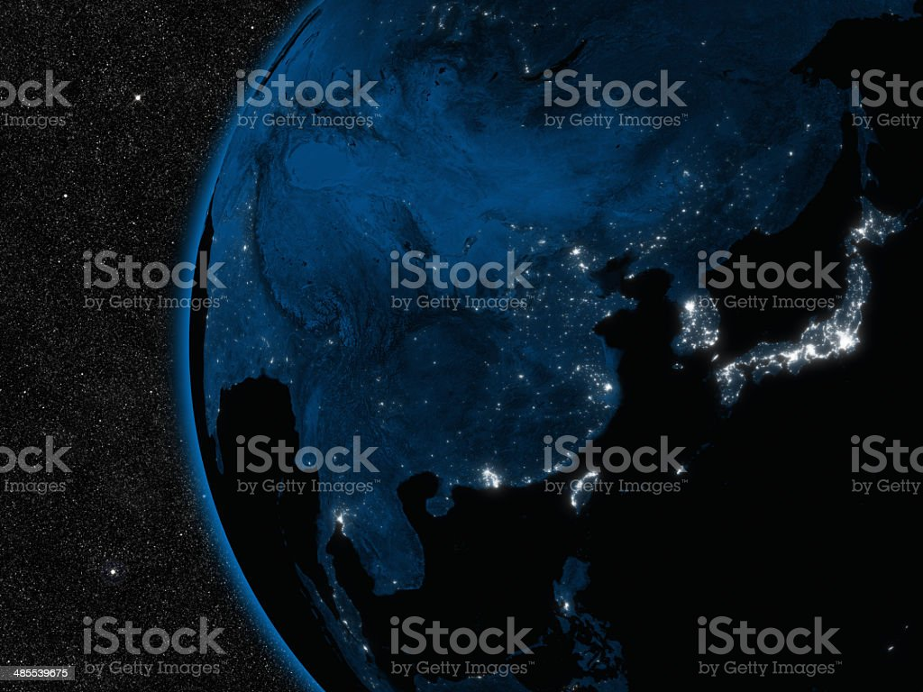 Night in East Asia stock photo