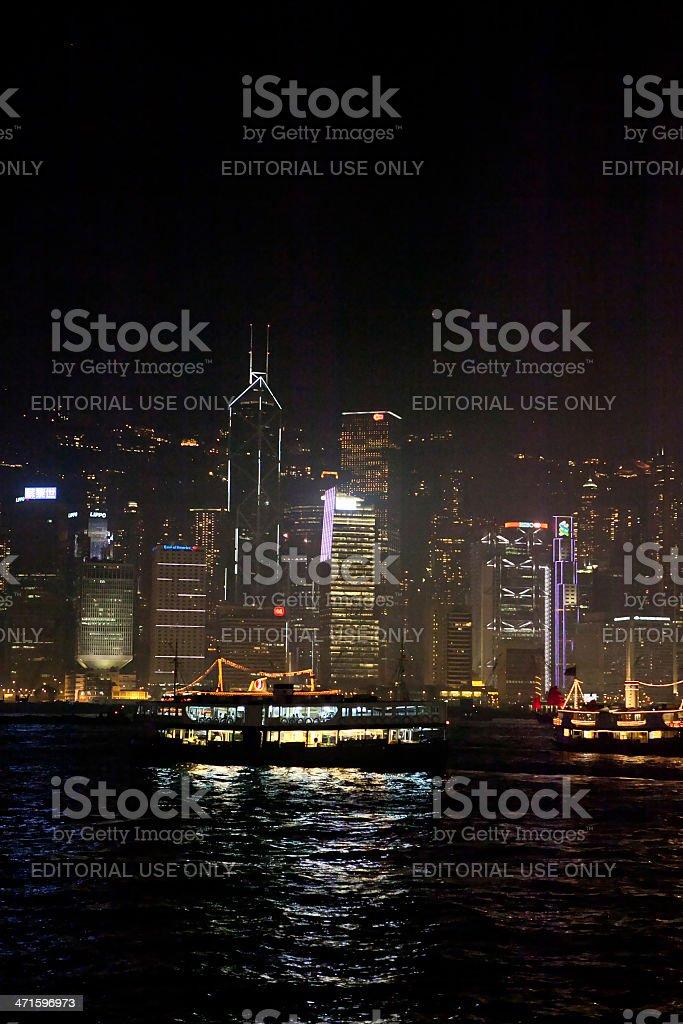 Night in Hong Kong royalty-free stock photo