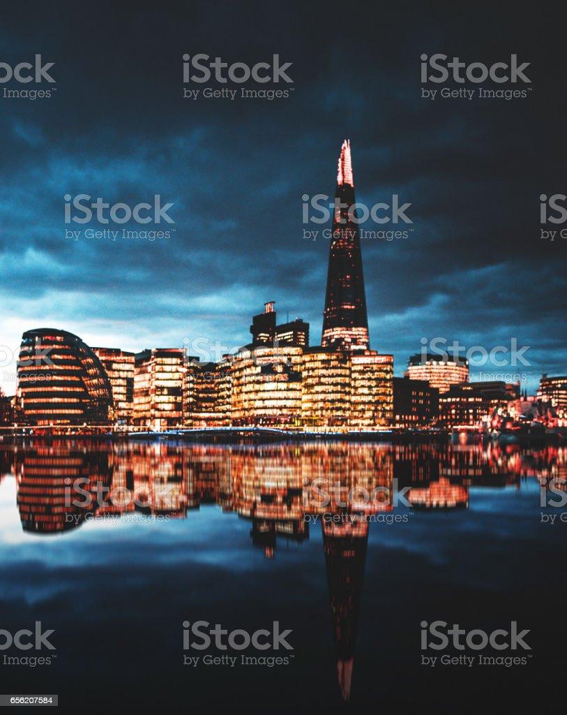 night in  London stock photo