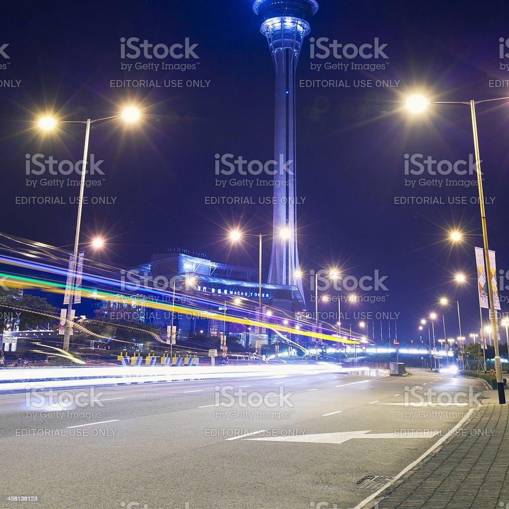 Night in Macau royalty-free stock photo
