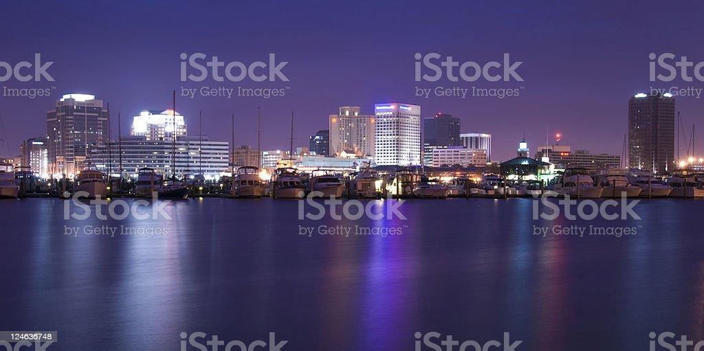 Night in Norfolk stock photo
