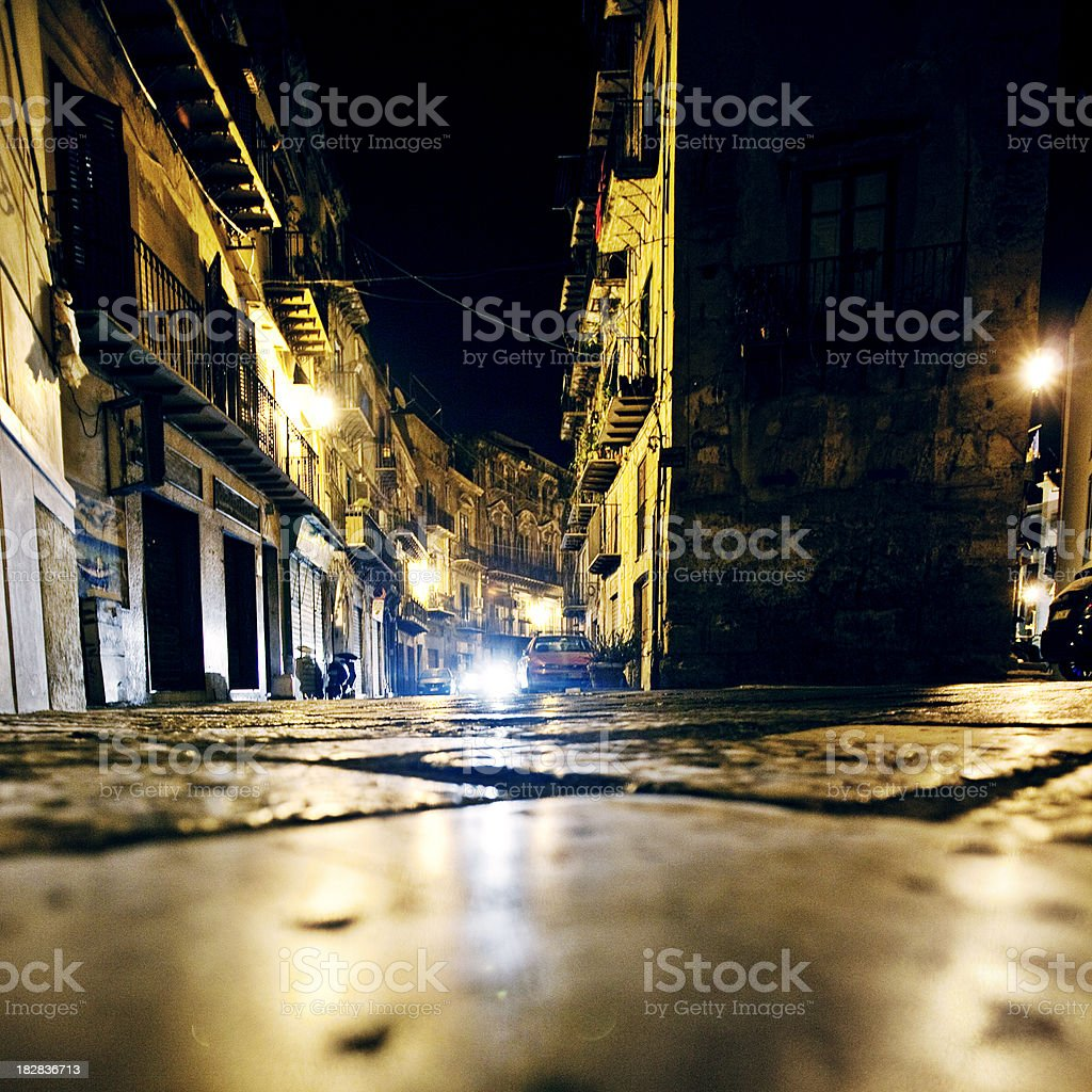 night in old town royalty-free stock photo