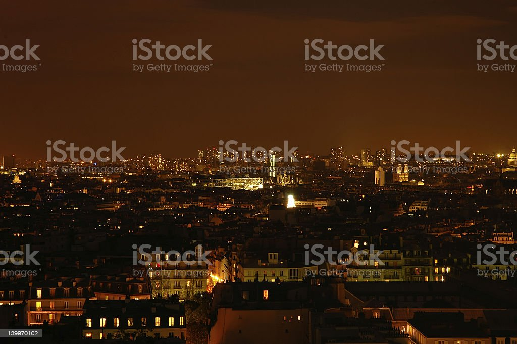 Night in Paris - panoramics royalty-free stock photo