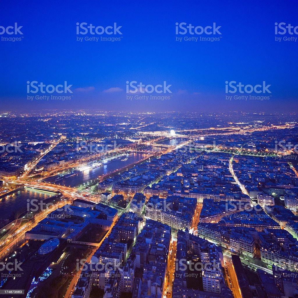 Night in Paris royalty-free stock photo