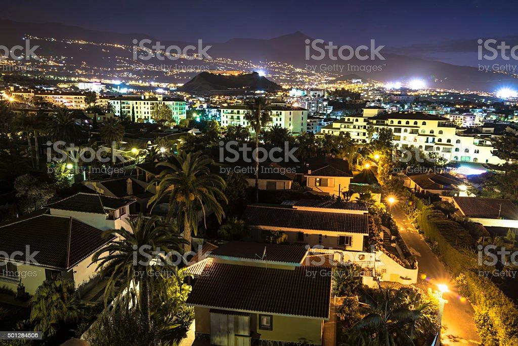 Night in Puerto de la Cruz stock photo