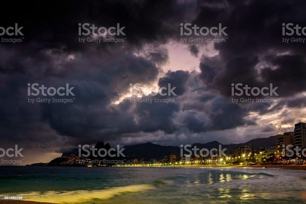 Night in Rio de Janeiro stock photo