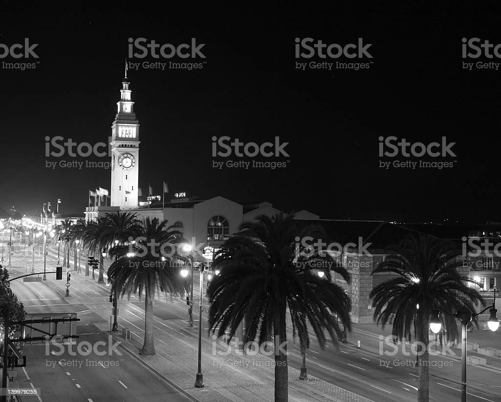 Night in San Francisco stock photo