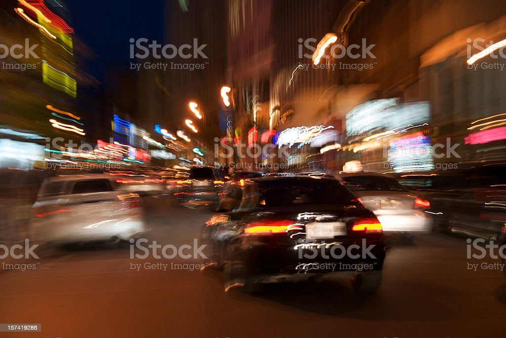 Night in the city stock photo