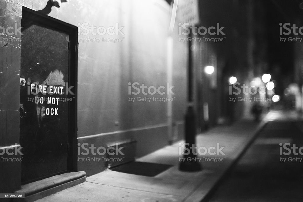 night in the city royalty-free stock photo