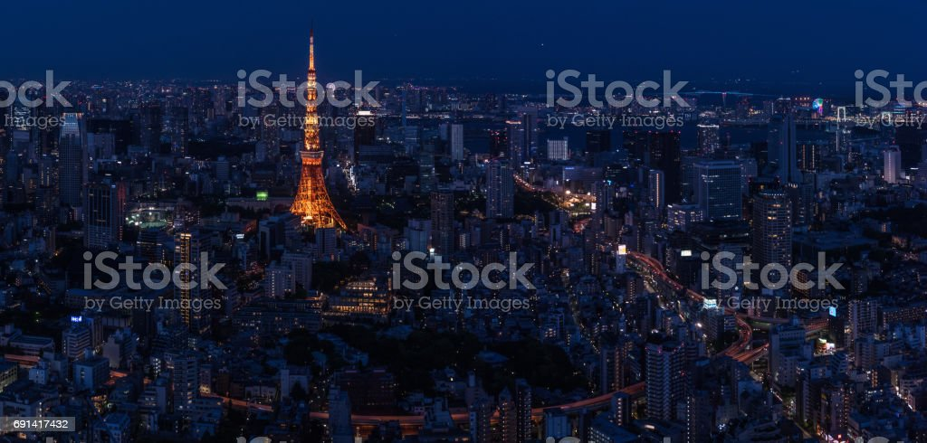 A night in Tokyo stock photo