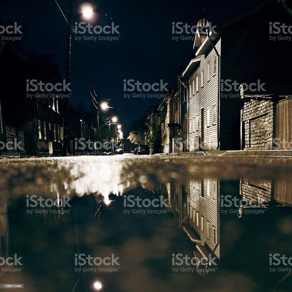 night in town royalty-free stock photo