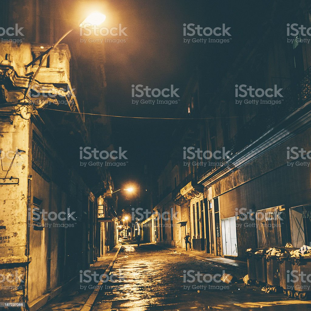 Night in town. royalty-free stock photo