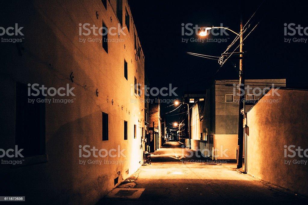 Night in town. Venice Beach, California. stock photo