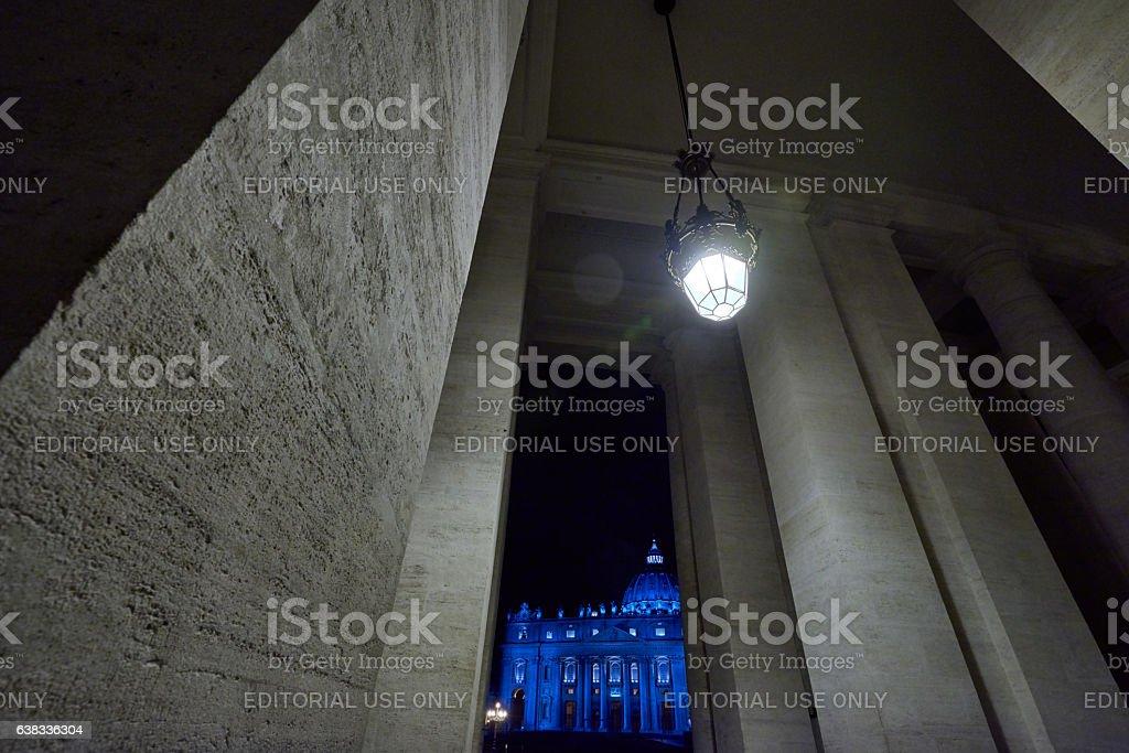 night in Vatican stock photo