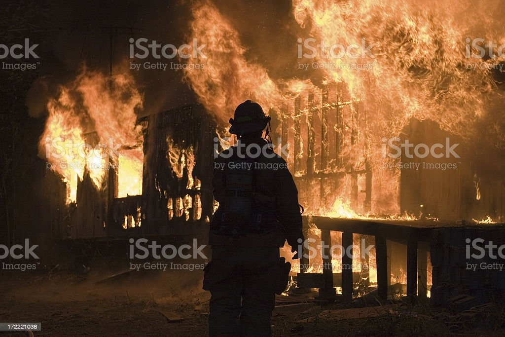 Night inferno royalty-free stock photo