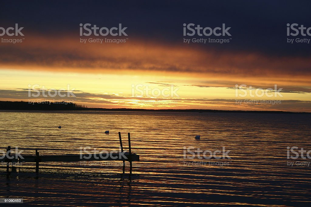 night is falling royalty-free stock photo