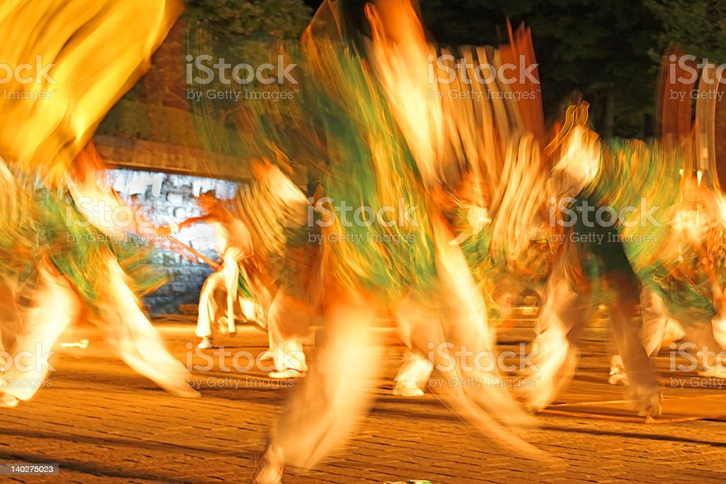 Night Japanese dance-motion blur abstract royalty-free stock photo
