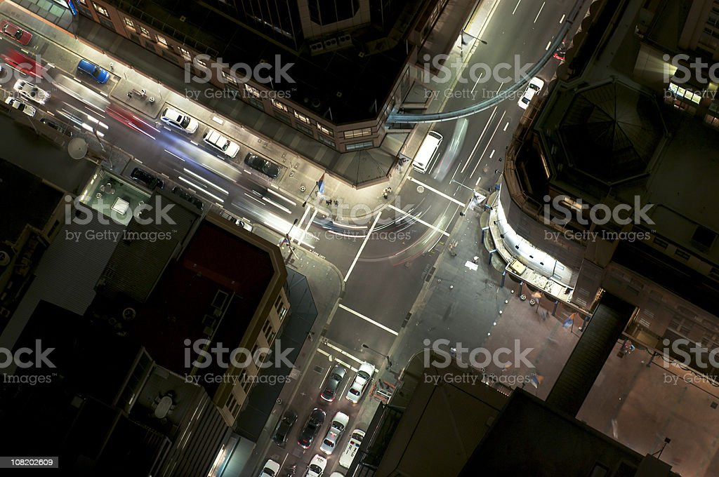 Night Junction Flow royalty-free stock photo