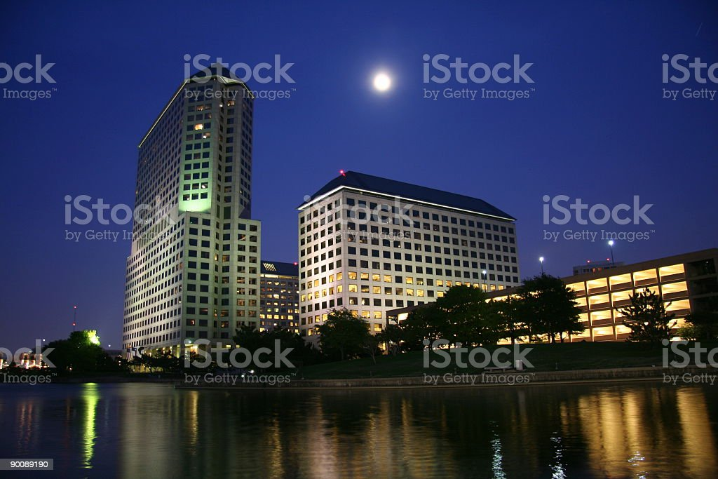 Night Lakeview royalty-free stock photo