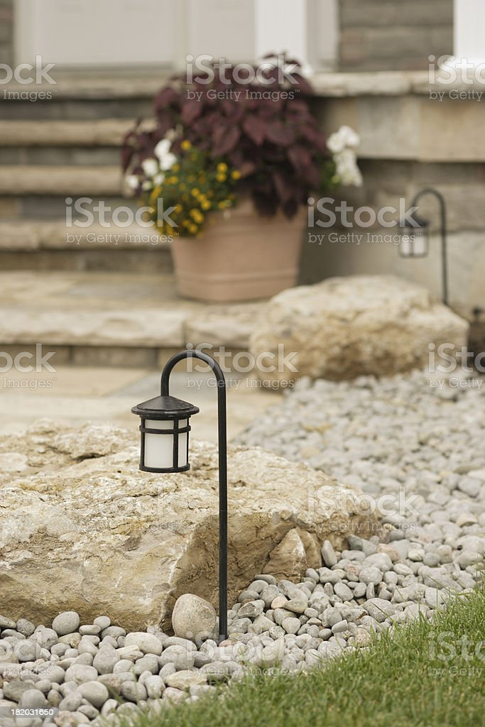 Night Lamp at the Lawn royalty-free stock photo